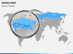 World map PPT slide 19