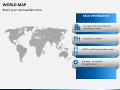 World map PPT slide 21
