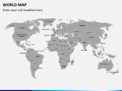 World map PPT slide 4