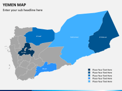 Yemen map PPT slide 10