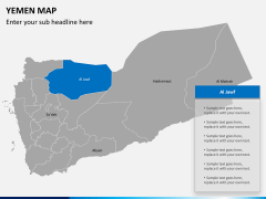 Yemen map PPT slide 11