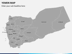 Yemen map PPT slide 2