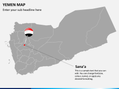 Yemen map PPT slide 3