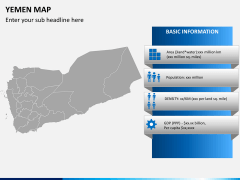 Yemen map PPT slide 4