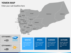 Yemen map PPT slide 5