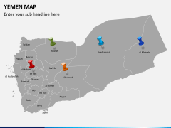 Yemen map PPT slide 7