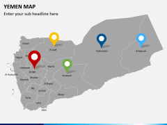 Yemen map PPT slide 8