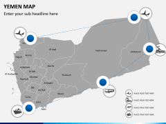 Yemen map PPT slide 9