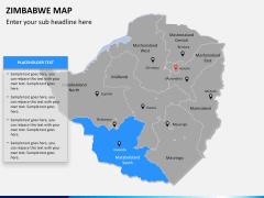 Zimbabwe Map PPT slide 9