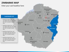 Zimbabwe Map PPT slide 10