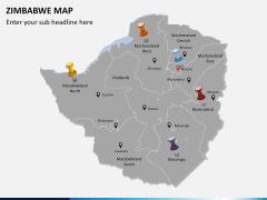 Zimbabwe Map PPT slide 2