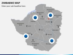 Zimbabwe Map PPT slide 3