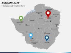 Zimbabwe Map PPT slide 5