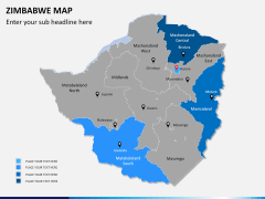 Zimbabwe Map PPT slide 7