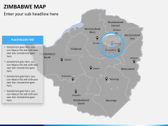 Zimbabwe Map PPT slide 8