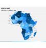 Africa map PPT slide 1