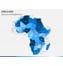 Africa map PPT slide 1