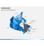 Canada map PPT slide 21