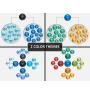 Cluster diagram PPT cover slide