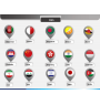 Country flag pins - type 2 PPT slide 1
