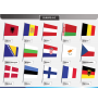 Europe flags PPT slide 1