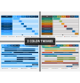 Gantt charts PPT cover slide