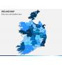 Ireland Map PPT slide 1