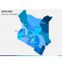 Kenya map PPT slide 1