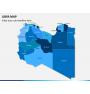 Libya map PPT slide 1