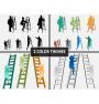 Man with Ladder PPT Cover Slide