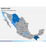 Mexico map PPT slide 2
