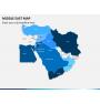 Middle east map PPT slide 1