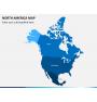 North america map PPT slide 1