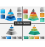 Pyramid shape PPT cover slide