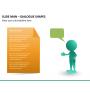 Slide man dialogue shapes PPT slide 8