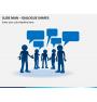 Slide man dialogue shapes PPT slide 1
