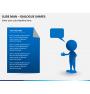 Slide man dialogue shapes PPT slide 3