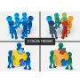 Slide man teamwork PPT cover slide