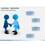 Slide man teamwork PPT slide 2