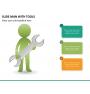 Slide man with tools PPT slide 9