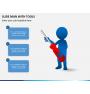 Slide man with tools PPT slide 2