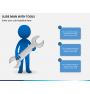 Slide man with tools PPT slide 3
