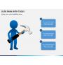Slide man with tools PPT slide 4