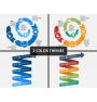 Spiral timeline PPT cover slide