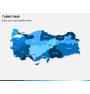 Turkey map PPT slide 1