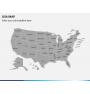 USA map PPT slide 1