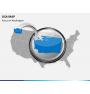 USA map PPT slide 15