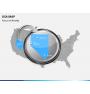 USA map PPT slide 16