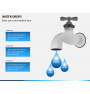Water drops PPT slide 1