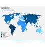 World map PPT slide 1
